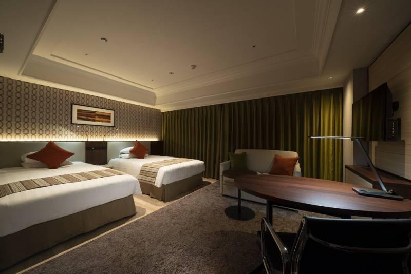デラックスツインルーム 定員:3名まで ハイダーベッドを使用し常時3名利用可