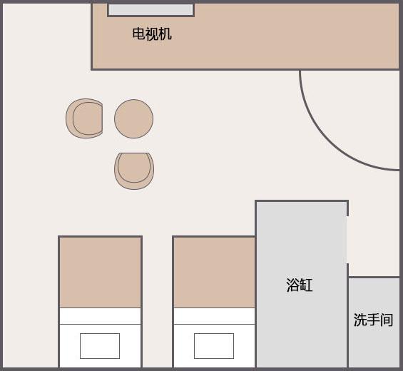 双床客房[8F]
